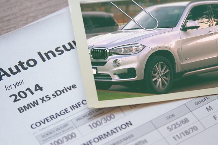 BMW X5 insurance policy