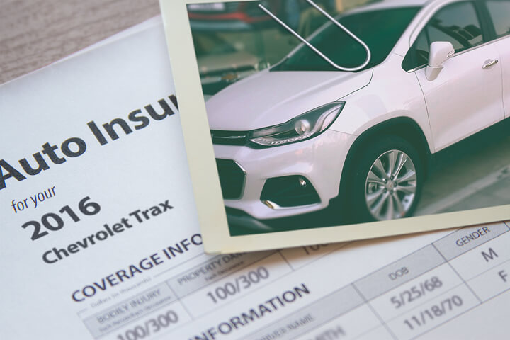Chevy Trax insurance policy