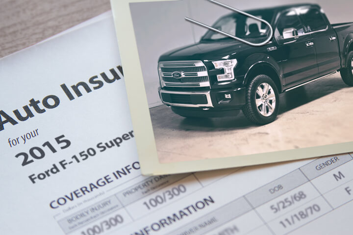 Ford F-150 insurance policy
