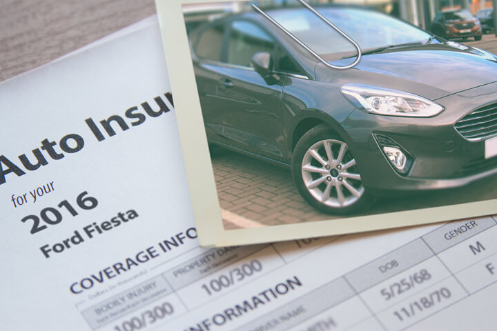 Ford Fiesta insurance policy