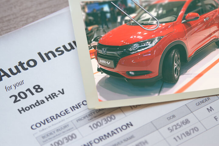 Honda HR-V insurance policy