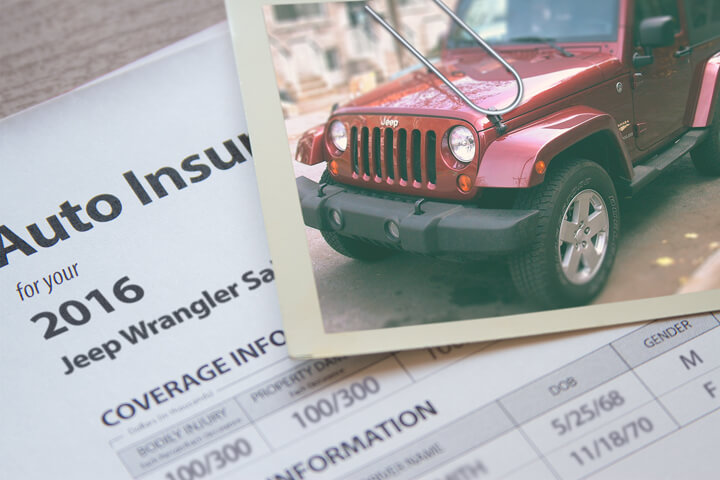 Jeep Wrangler insurance policy