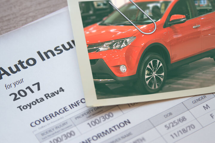 Toyota Rav4 insurance policy