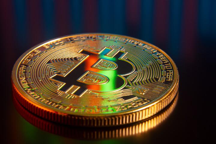 Bitcoin reflecting BTC stock price volatility and trading volume