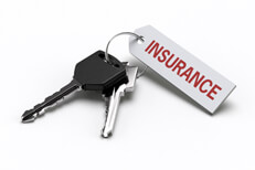Car keys with insurance tag isolated on white free car insurance image
