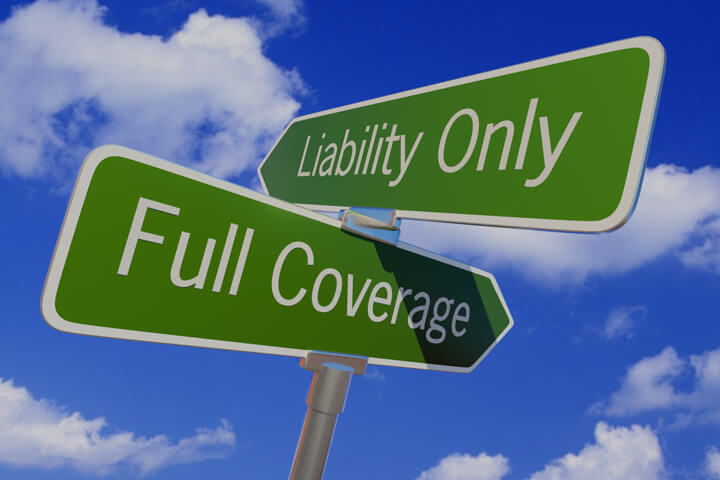 Full coverage versus liability only car insurance