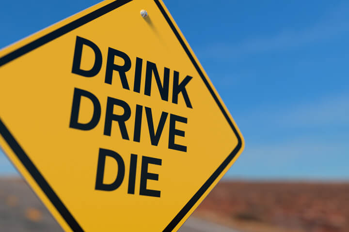 Yellow road sign reading Drink Drive Die free drunk driving image