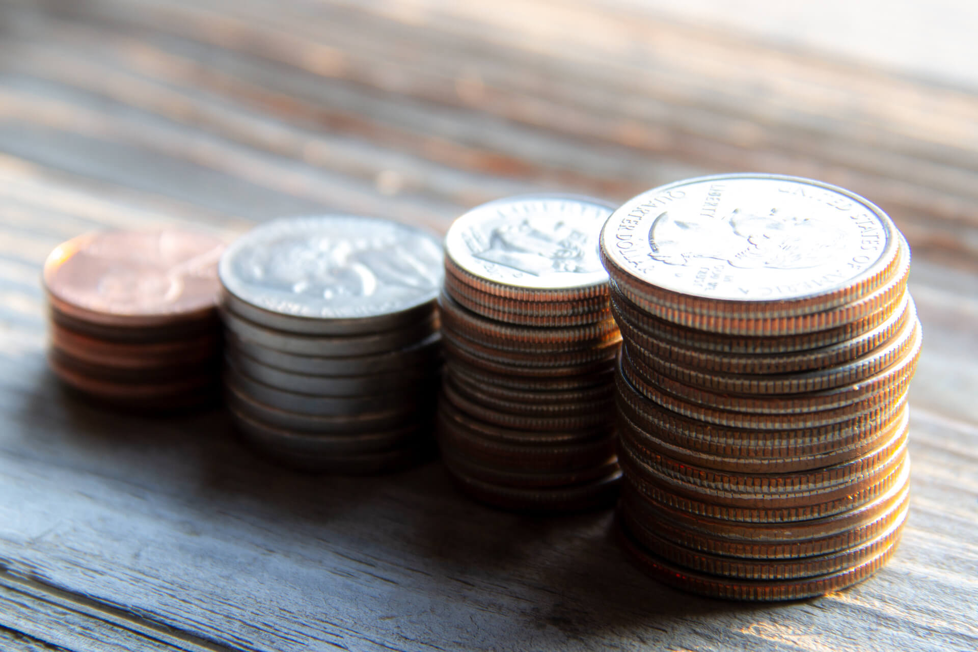 U S Coins Stacked Free Image Download