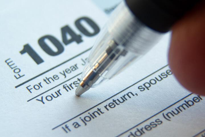 Start of a tax return