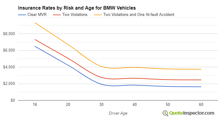 BMW insurance by risk and age
